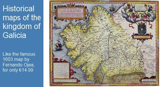 Map Poster: Kingdom of Galicia by Fernando de Ojea 1603