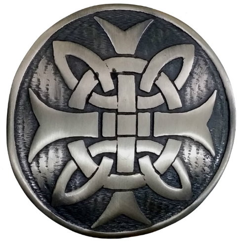 St Lazaro Antique Celtic Cross Brooch