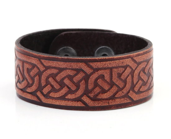 Melide Knotwork Leather Bracelet