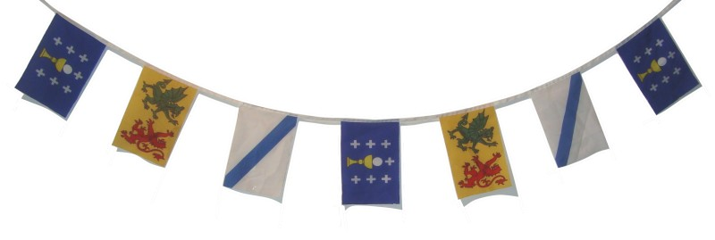 Historical Flags of Galicia Bunting