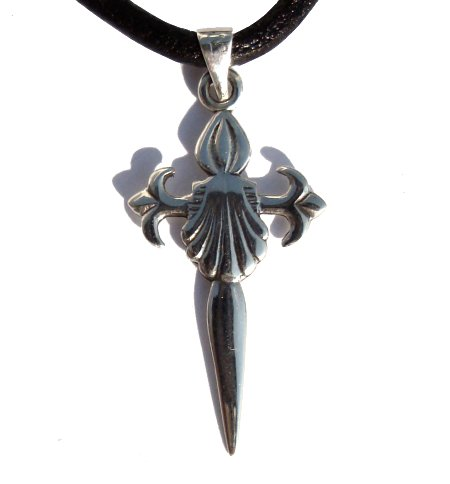 Cross of St James & Shell Silver Pendant