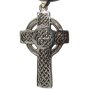 Silver Celtic Cross Knotwork Pendant