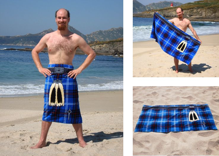 Galician Blue Kilt Towel