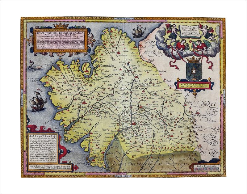 Kingdom of Galicia 1603 Poster Print