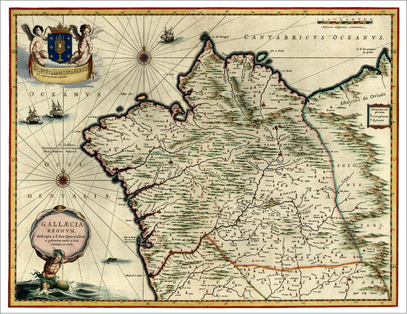 Kingdom of Galicia 1640 Poster Print