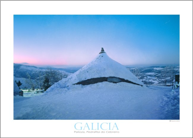 Roundhouse, Cebreiro, Galician Highlands, Poster Print