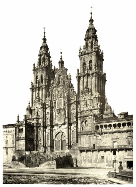 Santiago de Compostela Cathedral in 1889, Poster Print