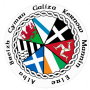 Car Sticker with Flags and Names of Celtic Nations