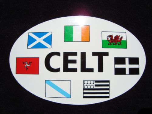 Celtic Nations Car Sticker