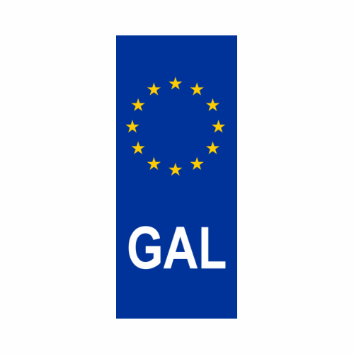 GAL Number Plate Sticker