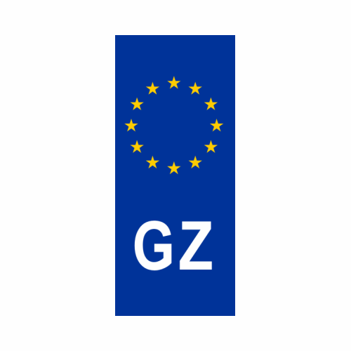 GZ Number Plate Sticker