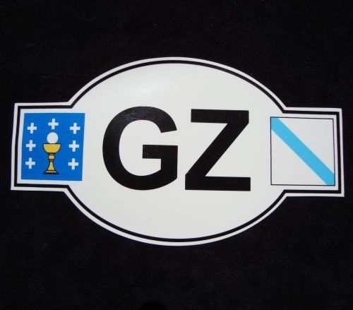 GZ (Galiza) Car Sticker with Flags