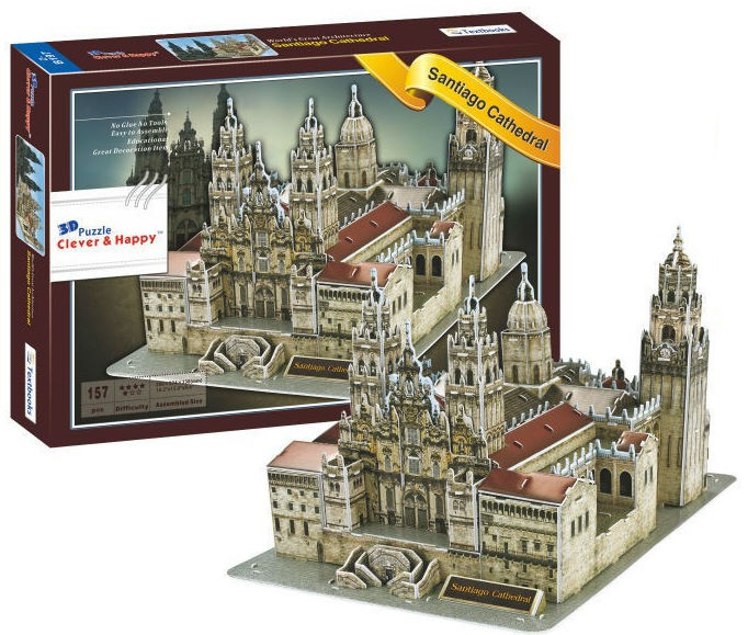 Santiago Cathedral 3D Jigsaw Puzzle